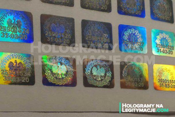 hologram els z kodem seryjnym