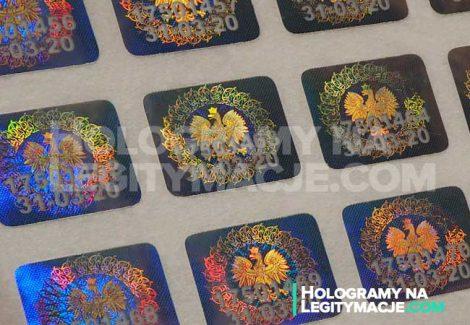 hologram na legitymacje z kodem seryjnym