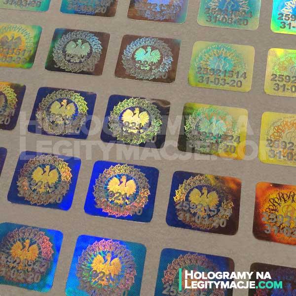 Przedłużone hologramy i legitymacje studenckie